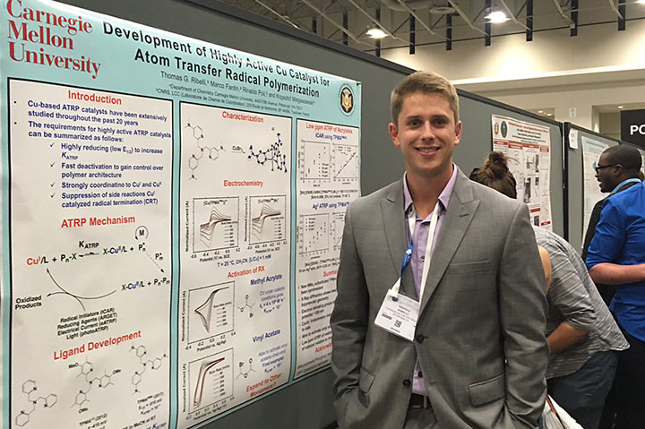 photo of Tom Ribelli in front of poster at ACS DC